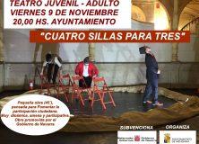 TEATRO JUVENIL-ADULTO CON LA OBRA 'CUATRO SILLAS PARA TRES'